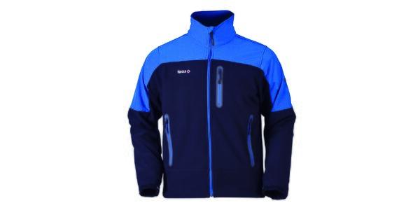 Pánska modrá bunda na zips Izas
