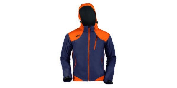 Pánska šedo-oranžová funkčná bunda s kapucňou Izas