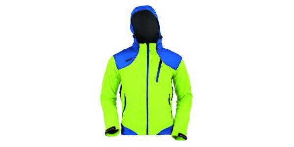 Pánska zeleno-modrá softshellová bunda Izas