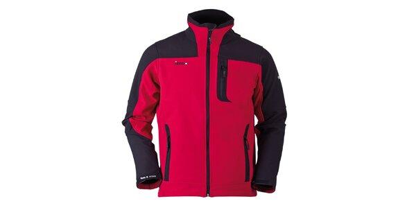 Pánska červeno-čierna softshellová bunda Izas