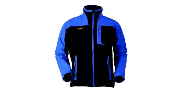 Pánska čierno-modrá softshellová bunda Izas