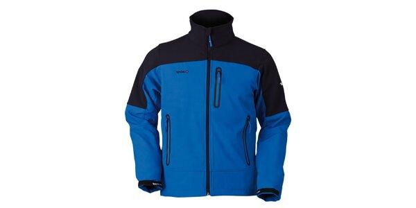 Pánska čierno-modrá bunda na zips Izas