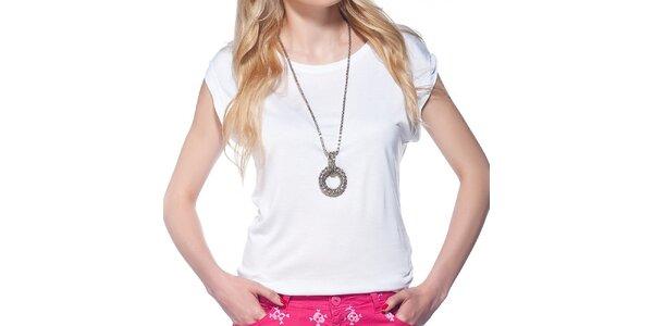 Dámske biele tričko s krátkym rukávom Jimmy Key