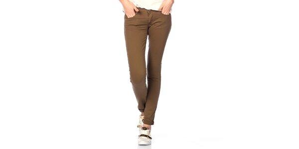 Dámske bavlnené nohavice v khaki farbe Jimmy Key