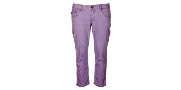 Dámske fialové capri nohavice Timeout