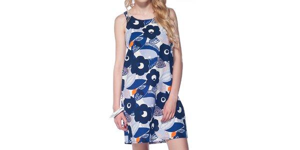 Dámske modré šaty s kvietkami Jimmy Key