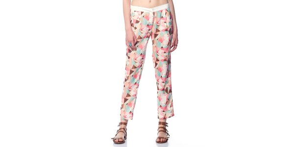 Dámske ružové vzorované nohavice Jimmy Key