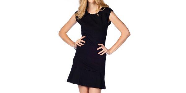 Dámske čierne šaty s volánikom Jimmy Key