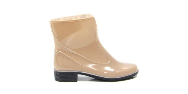 Dámske béžové členkové topánky Favolla