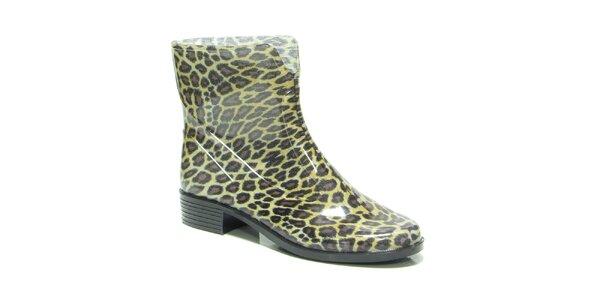 Dámske nízke leopardie gumáky Favolla