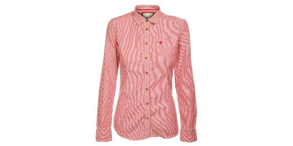 Dámska červená prúžkovaná košeľa Timeout