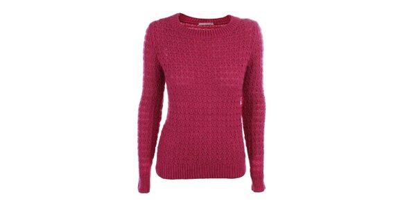 Dámsky ružový pletený sveter Phard