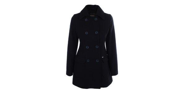Dámsky čierny dvojradový kabát Phard