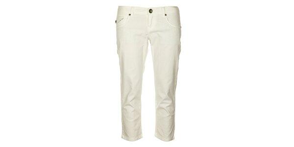 Dámske biele capri nohavice Timeout
