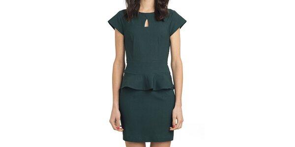 Dámske zelené šaty s volánom Compania Fantastica