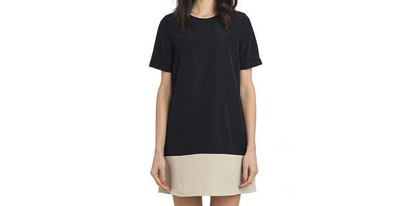 Dámske čierno-béžové retro šaty Compania Fantastica