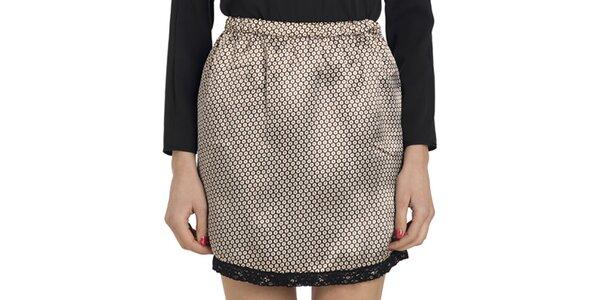 Dámska vzorovaná lesklá sukňa do pása Compania Fantastica