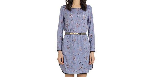 Dámske fialové šaty s farebným vzorom Compania Fantastica