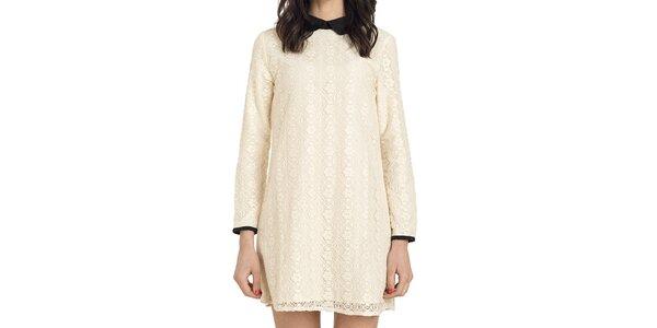 Dámske čipkované šaty vo svetlom odtieni Compania Fanstastica