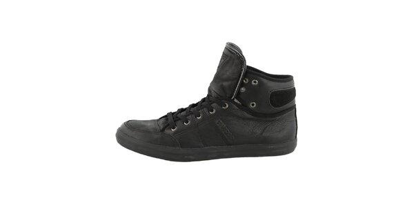 Pánske čierne členkové topánky Guess