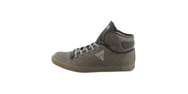 Pánske zelené šnurovacie topánky Guess