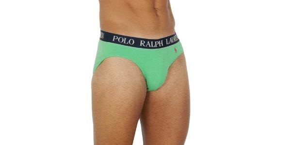 Pánske svetlo zelené slipy Ralph Lauren