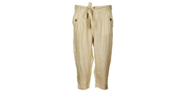 Dámske biele ľanové nohavice Timeout
