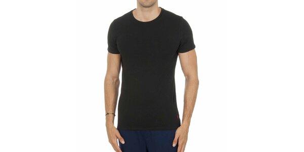 Pánske čierne tričko Ralph Lauren