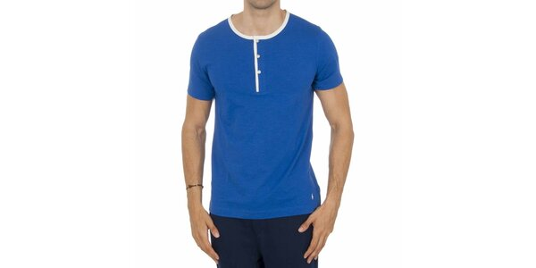 Pánske modré pyžamové tričko Ralph Lauren