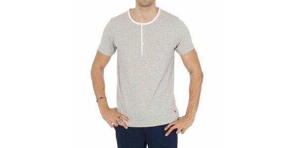 Pánske svetlo šedé pyžamové tričko Ralph Lauren