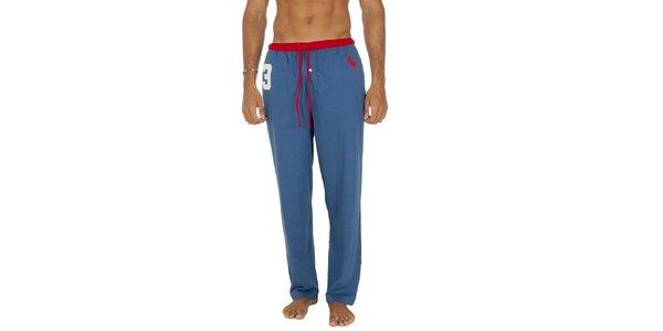 Pánske svetlo modré pyžamové nohavice Ralph Lauren