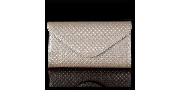 Dámska perlovo šedá vzorovaná listová kabelka Felice