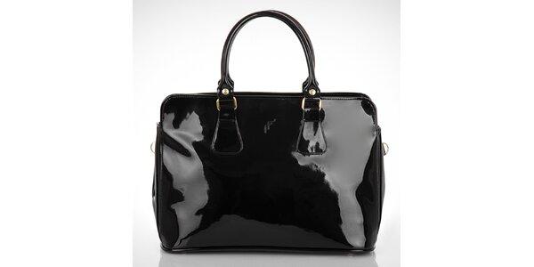 Dámska lesklá čierna kabelka Felice