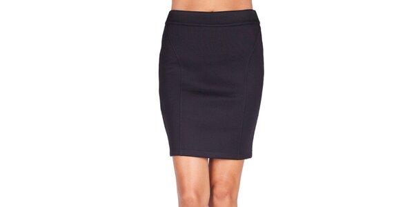 Dámska čierna sukňa na zips Sixie