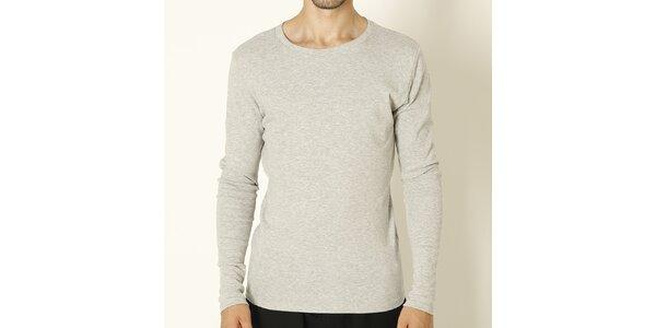 Pánske šedé tričko s dlhým rukávom Chaser