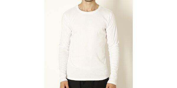 Pánske biele tričko s dlhým rukávom Chaser