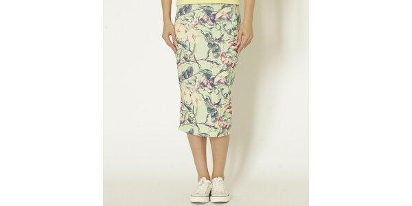 Dámska mentolová sukňa s kvetinami Chaser