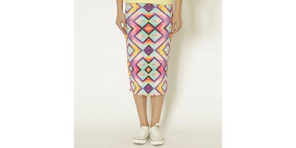 Dámska farebná sukňa s geometrickým vzorom Chaser