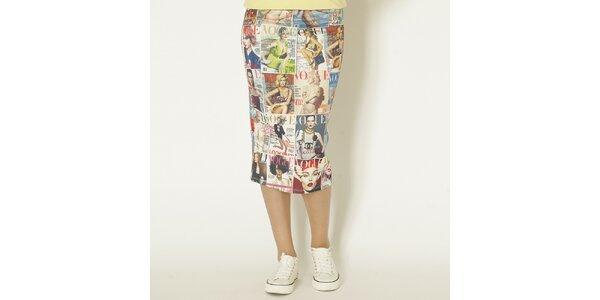 Dámska farebná sukňa s Vogue potlačou Chaser