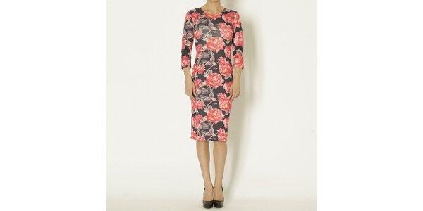 Dámske šaty s potlačou ruží Chaser