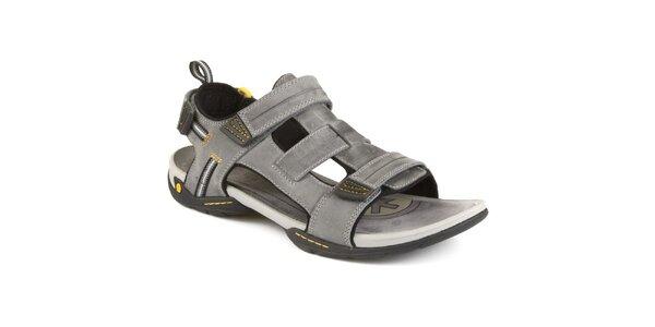 Pánske šedé sandále Clarks kožené