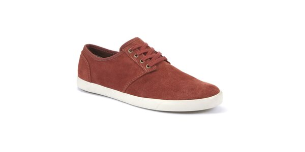 Pánske červené semišové topánky Clarks