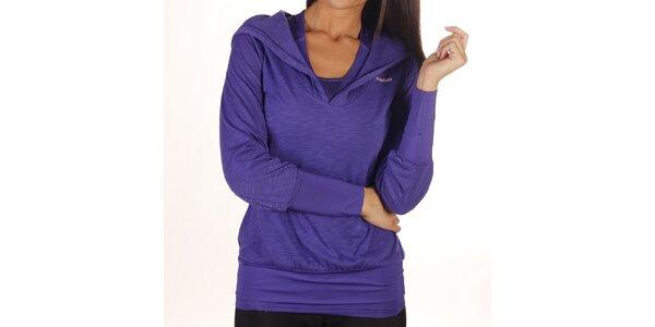Dámske fialové tričko s kapucňou Reebok
