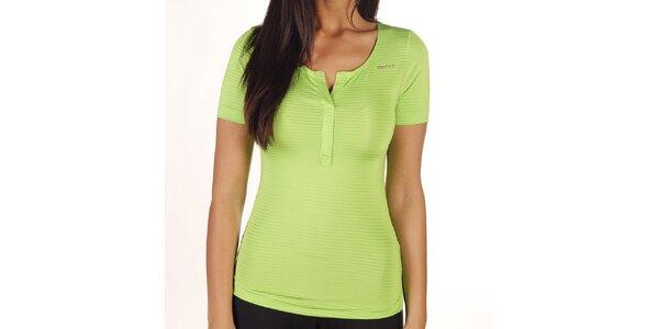 Dámske zelené pruhované tričko Reebok