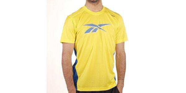 Pánske žlté tričko s modrými prvkami Reebok