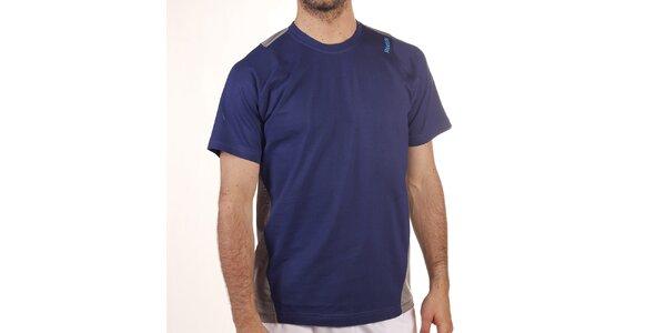 Pánske modro-šedé tričko s krátkym rukávom Reebok