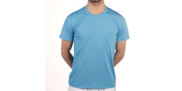 Pánske elastické tričko v tyrkysovej farbe Reebok