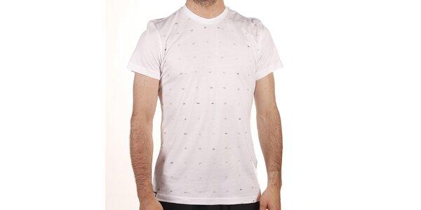 Pánske biele tričko o šedou potlačou Reebok