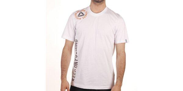 Pánske biele tričko s nápismi Reebok