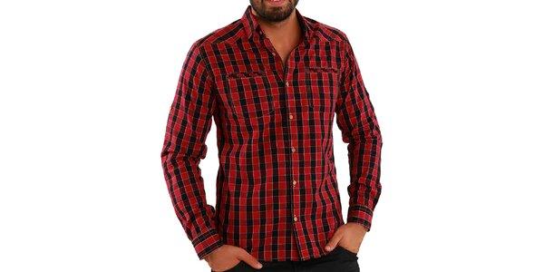 Pánska kockovaná košeľa Premium Company
